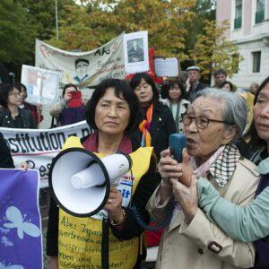 Demonstration vor der japanischen Botschaft ©Tsukasa Yajima