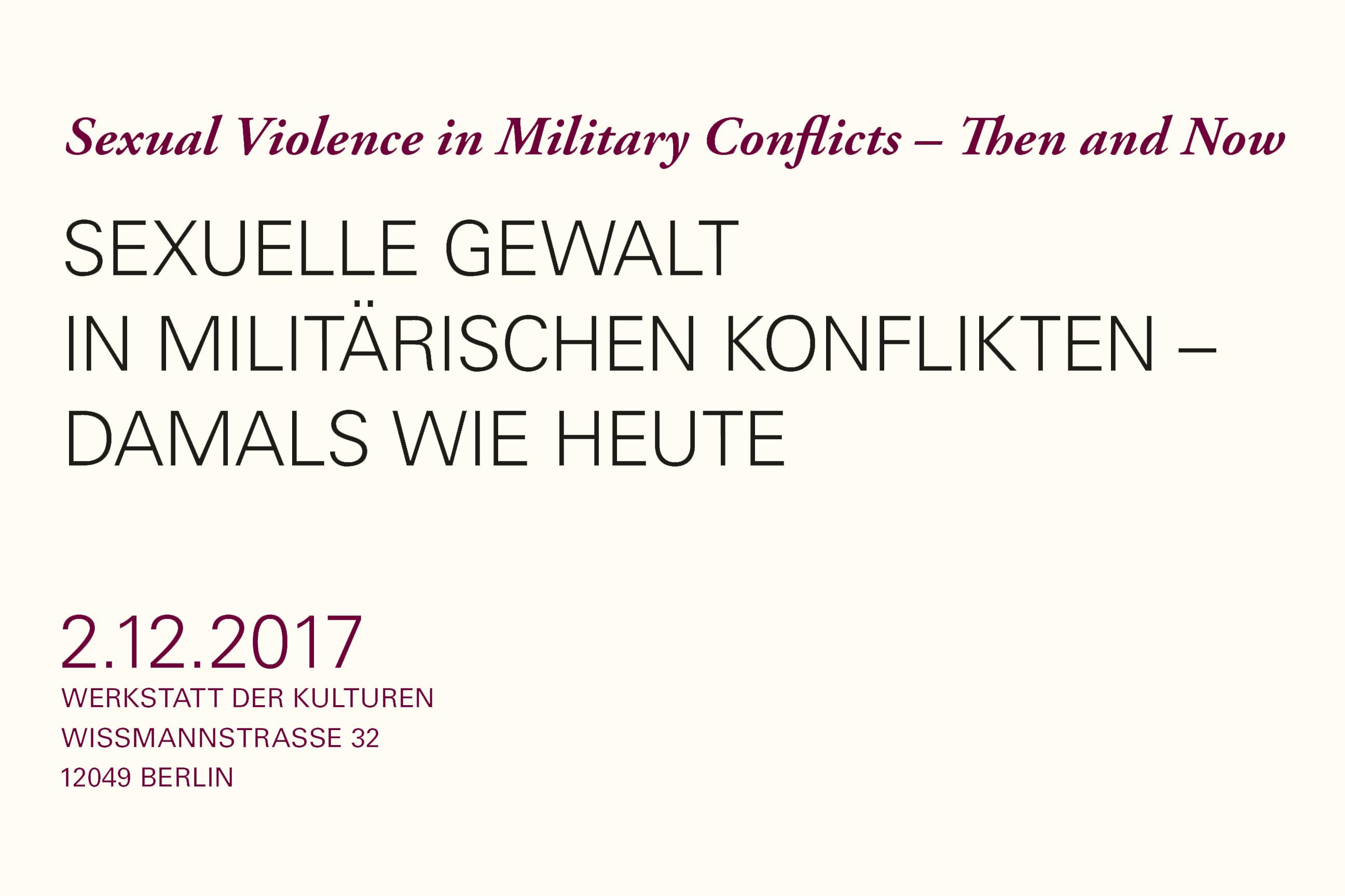 Sexuelle Gewalt Konferenz