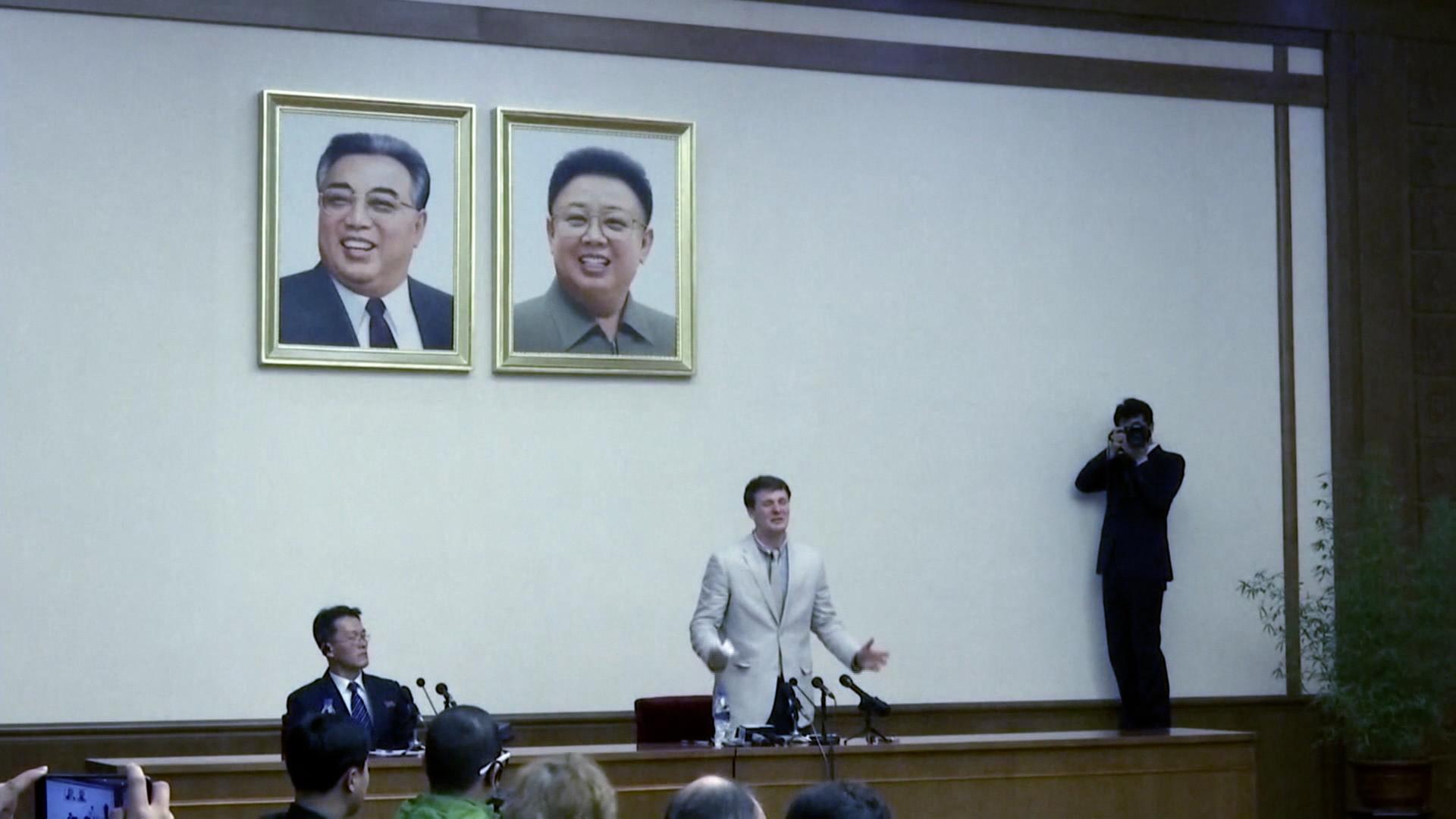 Otto Warmbier vor Gericht in Pjöngjang